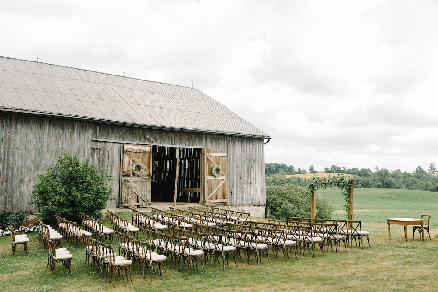 Southern Ontario Farm Rustic Tented Wedding Bliss Events